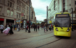 People shopping Manchester UK Royalty Free Stock Photography