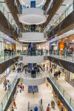 People shopping in Melbourne. Melbourne, Australia - August 1, 2015: People shopping in Emporium Melbourne, a premier shopping centre with flagship stores over Stock Photo