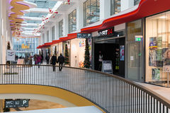 People in shopping modern mall `Konigsgalerie` in Duisburg, Germ Royalty Free Stock Photography