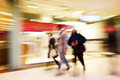 People shopping. A people Shopping, motion blur royalty free stock photo