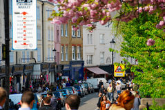 People shopping in notting hill London Stock Photos