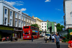 People shopping in notting hill London Stock Photo