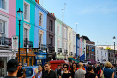 People shopping in notting hill London Stock Images