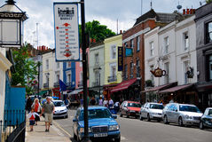 People shopping in notting hill London Royalty Free Stock Photos