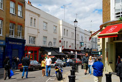 People shopping in notting hill London Royalty Free Stock Photography