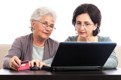 People shopping online Royalty Free Stock Photo
