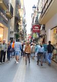 Shopping paradise in Palma, Mallorca, Spain Stock Image