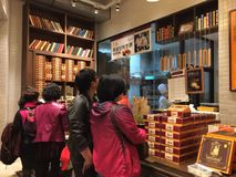 People shopping in a pineapple cake store in Xiamen city, southeast China Stock Photo