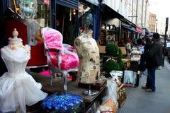 People shopping at Portobello road London Royalty Free Stock Photo