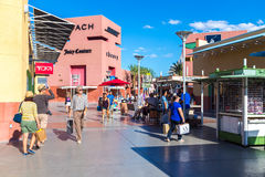 People shopping at Premium Outlet in Las Vegas, USA Stock Image