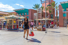 People shopping at Premium Outlet in Las Vegas, USA Royalty Free Stock Images