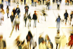 People shopping in retail mall Royalty Free Stock Images