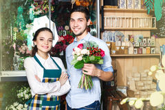 People, shopping, sale, floristry and consumerism concept Royalty Free Stock Images