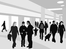 People Shopping Silhouettes Royalty Free Stock Photos