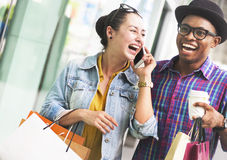 People Shopping Spending Customer Consumerism Concept.  Stock Image