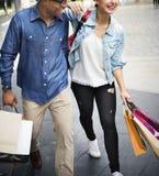 People Shopping Spending Customer Consumerism Concept. Couple People Shopping Spending Customer Royalty Free Stock Photo
