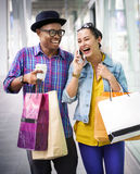 People Shopping Spending Customer Consumerism Concept. People Couple Shopping Spending Customer Stock Images