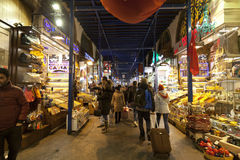 People shopping in the Spice Bazaar Royalty Free Stock Photography