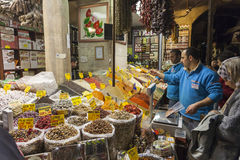People shopping in the Spice Bazaar, Istanbul Stock Photography