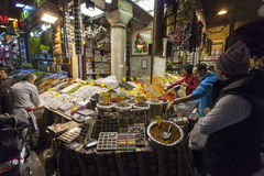 People shopping in the Spice Bazaar, Istanbul Royalty Free Stock Photo