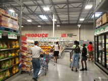 People shopping at Store WinCo TX USA Royalty Free Stock Photo