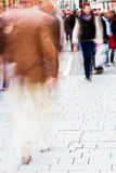 People in the shopping street Royalty Free Stock Photo