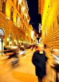 People shopping on the streets of Italy Stock Photo
