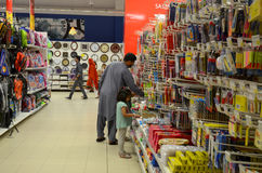 People Shopping in Supermarket. Hyperstar, Emporium Mall, Lahore Pakistan Royalty Free Stock Photography
