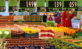 People Shopping In Supermarket Store. Stock Photography