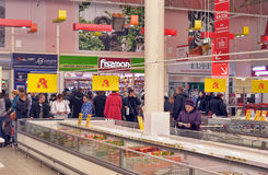 People Shopping In Supermarket Store Stock Image