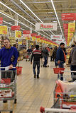 People Shopping In Supermarket Store Stock Photography