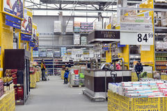 People Shopping In Supermarket Store Stock Images