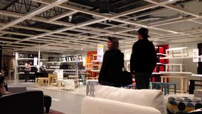 People shopping their furniture inside Ikea store Royalty Free Stock Image