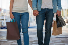 People on shopping trip in Europe Spain Stock Images