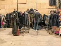 People are shopping at the vintage East Market royalty free stock image