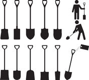 People with shovels Royalty Free Stock Images