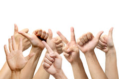People show hands Royalty Free Stock Photography