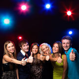 People show thumb up Stock Image