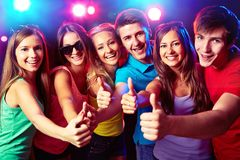 People show thumb up Stock Photography