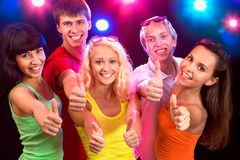 People show thumb up Stock Images