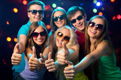 People show thumb up Royalty Free Stock Images