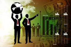 People showing a financial report Stock Photography