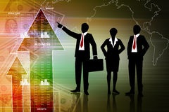 People showing a financial report Stock Image