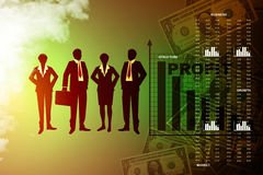 People showing a financial report Royalty Free Stock Images