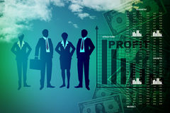 People showing a financial report Royalty Free Stock Image