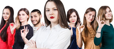 People showing OK sign Stock Photos