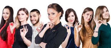 People showing OK sign Stock Photography