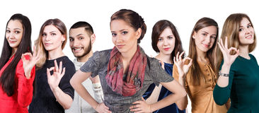 People showing OK sign Stock Photo