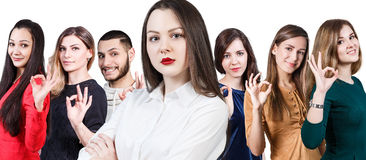 People showing OK sign Royalty Free Stock Photo