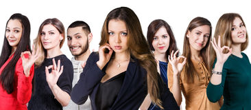 People showing OK sign Royalty Free Stock Image